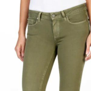 PAIGE Women's Verdugo Ankle Colored Jeans-Green